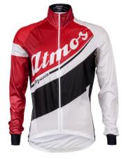Kurtka przeciwwiatrowa na rower z gamexu Atmos Red&White Vezuvio