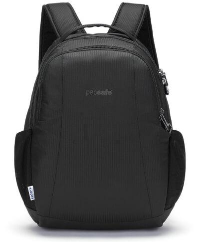 Plecak miejski antykradzieżowy MetroSafe LS350 Econyl Black Pacsafe