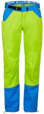 Męskie spodnie wspinaczkowe Kulti Milo lime green / blue