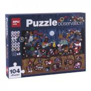 Puzzle obserwacyjne Apli Kids - Las 104 el. 5+