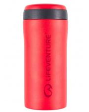 Szczelny kubek termiczny turystyczny 300 ml Lifeventure Thermal Mug czerwony mat