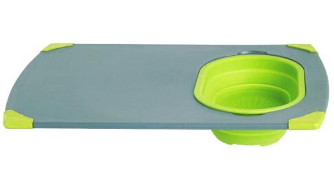 Turystyczna deska do krojenia z pojemnikiem silikonowym Outwell Collaps Board Green