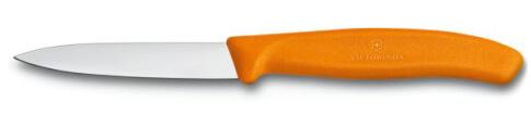 Nóż do jarzyn gładki Victorinox 10cm pomarańczowy