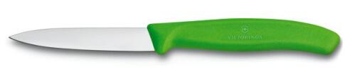 Nóż do jarzyn gładki Victorinox 10cm zielony