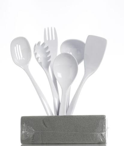 Zestaw turystycznych akcesoriów kuchennych Gimex White 6szt