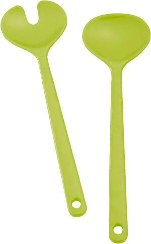 Turystyczne łyżki do sałatek Brunner Salad Server zielone