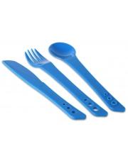 Sztućce turystyczne Ellipse Camping Cutlery Set niebieskie Lifeventure