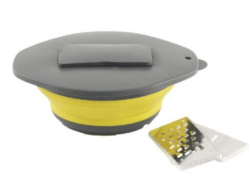 Miska składana z pokrywką i tarką yellow Collaps Bowl & lid wgrater