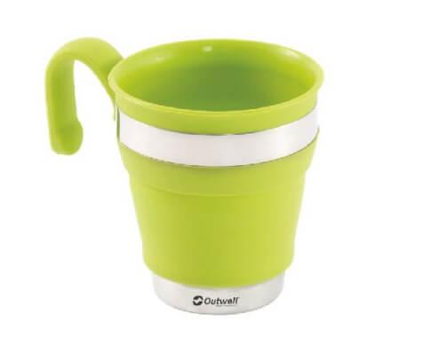Silikonowy kubek składany Outwell Collaps Mug Green