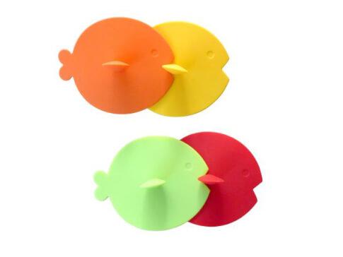 Pokrywki silikonowe na kubki Gimex Fish Rainbow