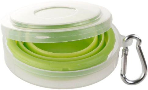Składany kubek silikonowy Brunner Foldaway Glass 200 ml zielony