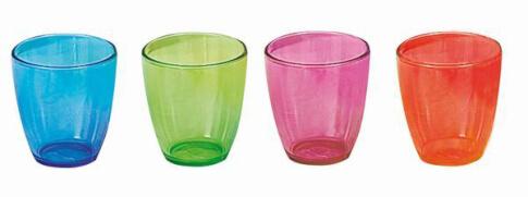 Zestaw 4 nietłukących szklanek Brunner Tahiti
