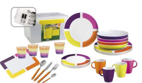 Zestaw obiadowy Brunner All Inclusive Spectrum Assorted Antislip kolorowy