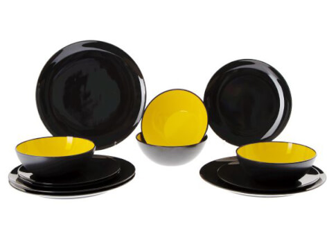 Zestaw obiadowy Gimex – Yellow 12 el