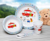 Dziecięcy zestaw naczyń turystycznych z melaminy Caravan Przyczepa Kempingowa