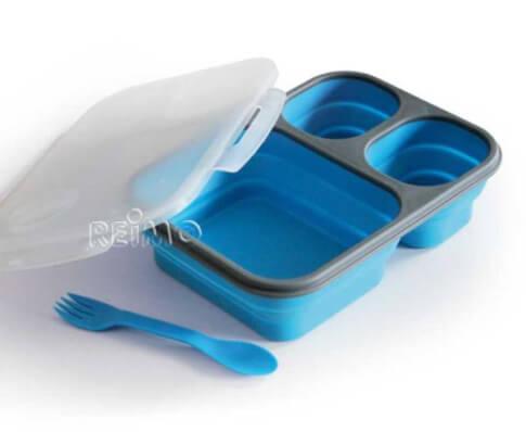 Składany pojemnik obiadowy ze sztućcami Reimo Duży Lunchbox
