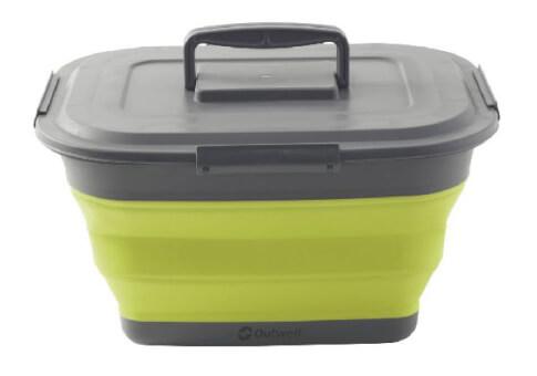 Pojemnik składany z pokrywką Collaps Storage Box L Green